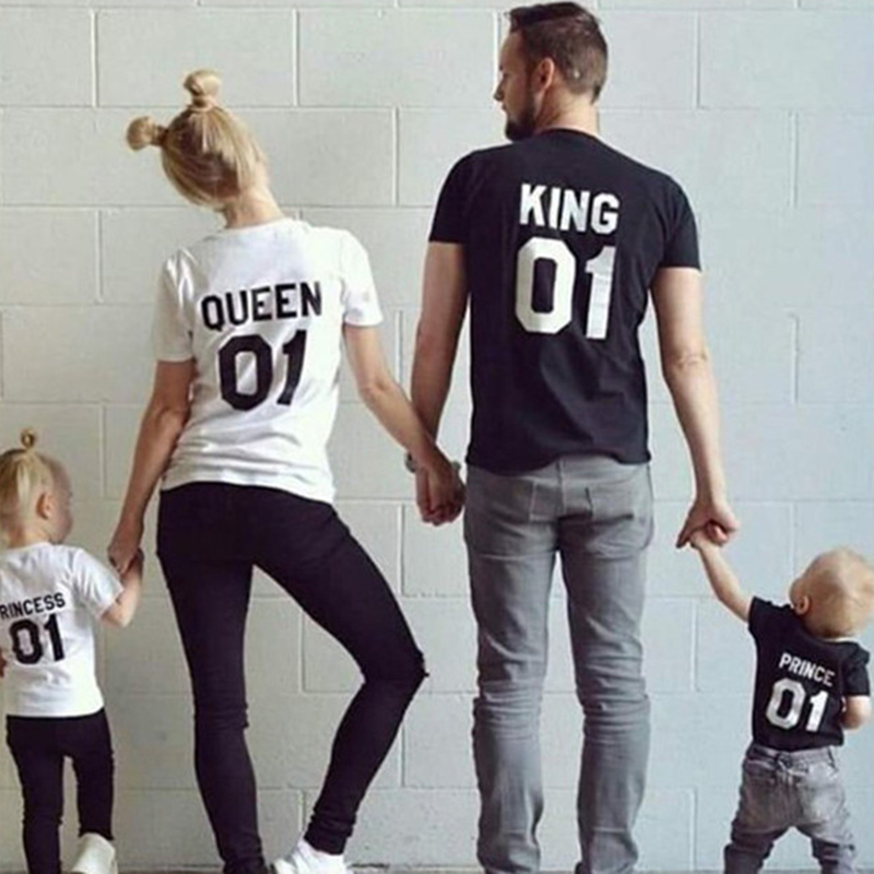 YELITE King Queen Couple   T     Shirt   For Men Women Family   T  -  shirt   Clothes Femme tshirt streetwear tee   shirt   homme Black White 2019