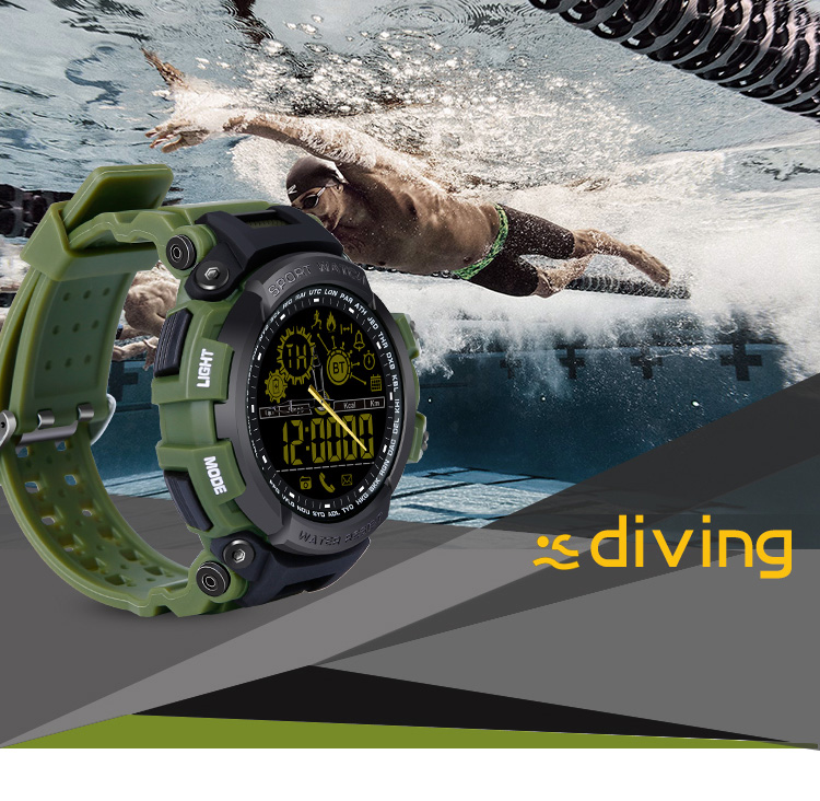 smart watch Men Sports Phone Watch Run Pedometer Swimming Diving Smart Cock 5ATM IPX8 Waterproof Smartwatch for iPhone Android in Smart Watches from Consumer Electronics