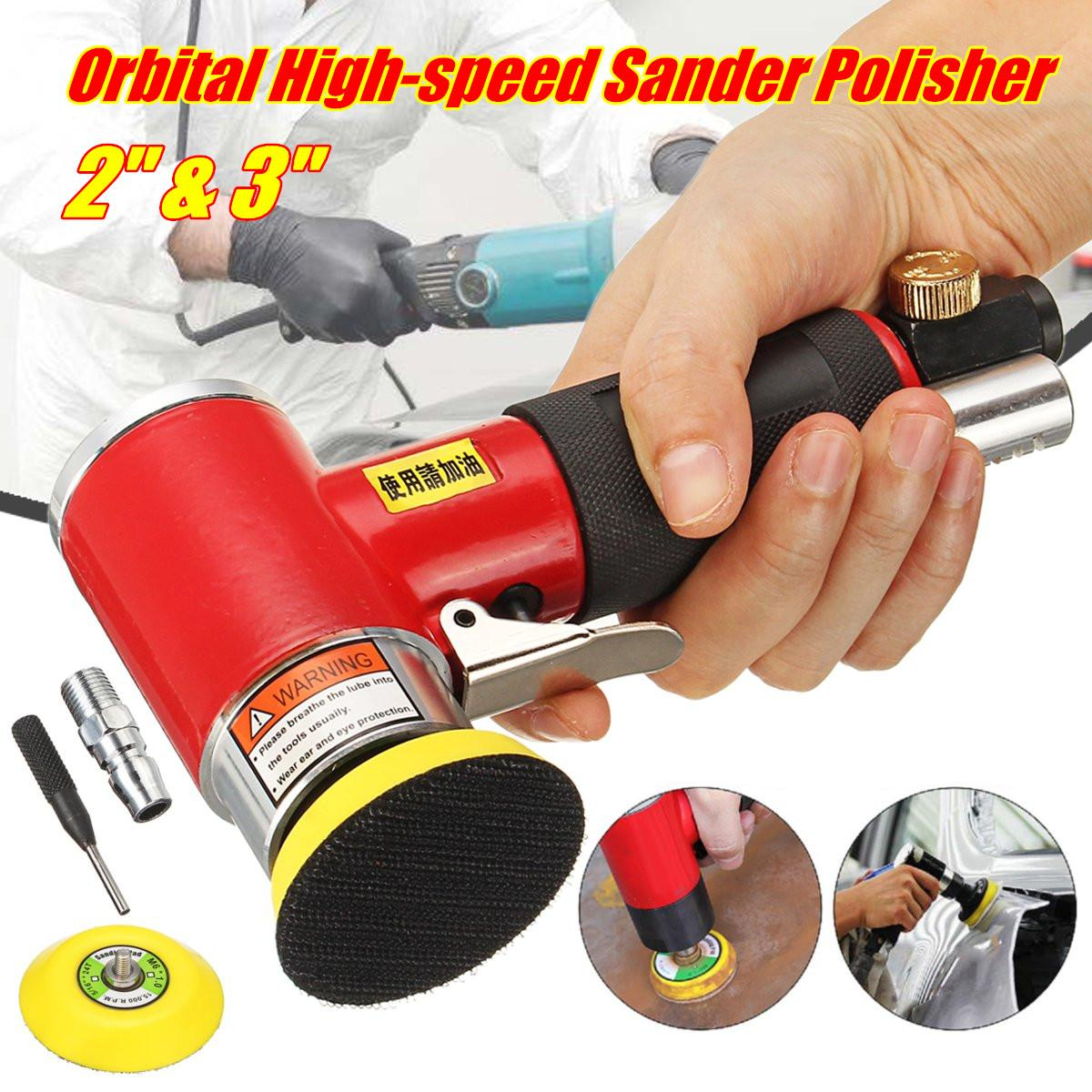 Mini Air Eccentric Pneumatic Polishing Sander Polisher Sanding Machine 1/4in M6 For Various Materials Grinding Fine Polishing 5 inches mini pneumatic air sander 9500rpm car polisher sandpaper grinding sanding polishing machine power tools