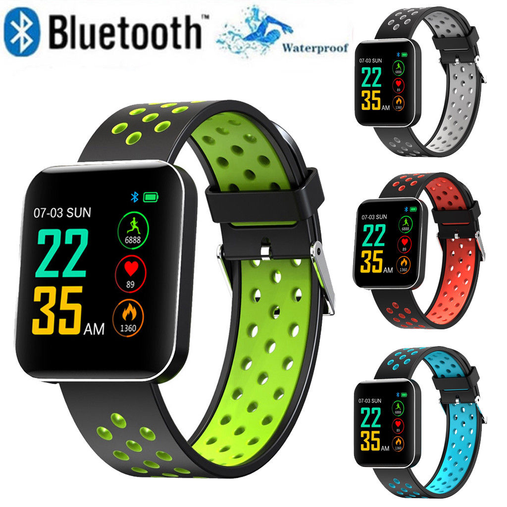 $26.39 | Fashion Men Women Waterproof Smart Watch Bluetooth Heart Rate Monitor Bracelet Digital Wristband for iPhone Samsung iOS Android