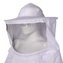 1pcs Practical White Protective Beekeeping Jacket Veil Dress With Hat Equip Suit Smock 75cm Length for Tools