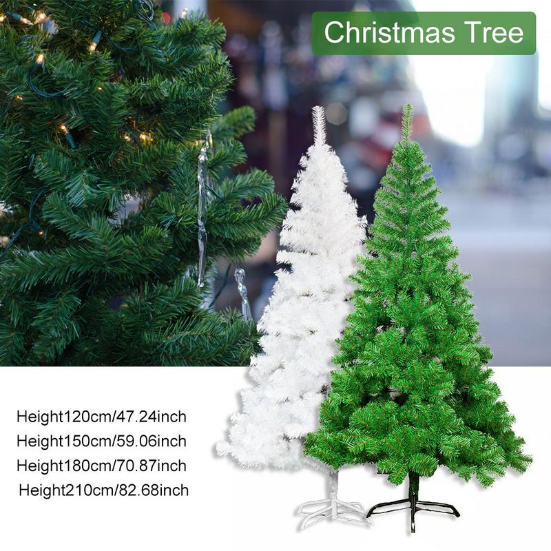 1.2/1.5/1.8/2.1M Iron Stand Christmas Tree Green/White Dense Style For Home Party Christmas Decoration Ship From UK