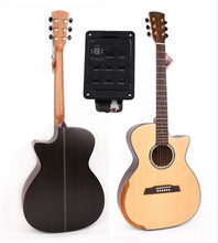 40 Cutaway Acoustic Guitar,Solid Spruce Top/Rosewood Body guitarra eletrica With LCD Pickup, guitars china With Hard case цена