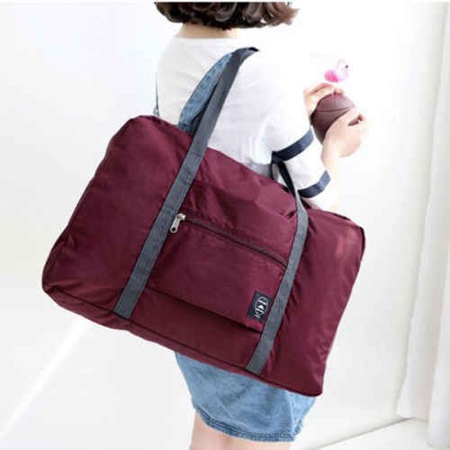 9333d46cc1 ... Travel Big Size Foldable Luggage Bag Clothes Storage Carry-On Duffle Bags  Hot Solid Unisex