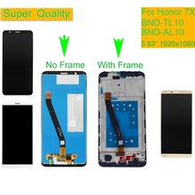 10Pcs/lot For HUAWEI Honor 7X LCD Display Touch Screen Digitizer with Frame for Honor 7X BND-L21 BND-L22 BND-L24 LCD Assembly