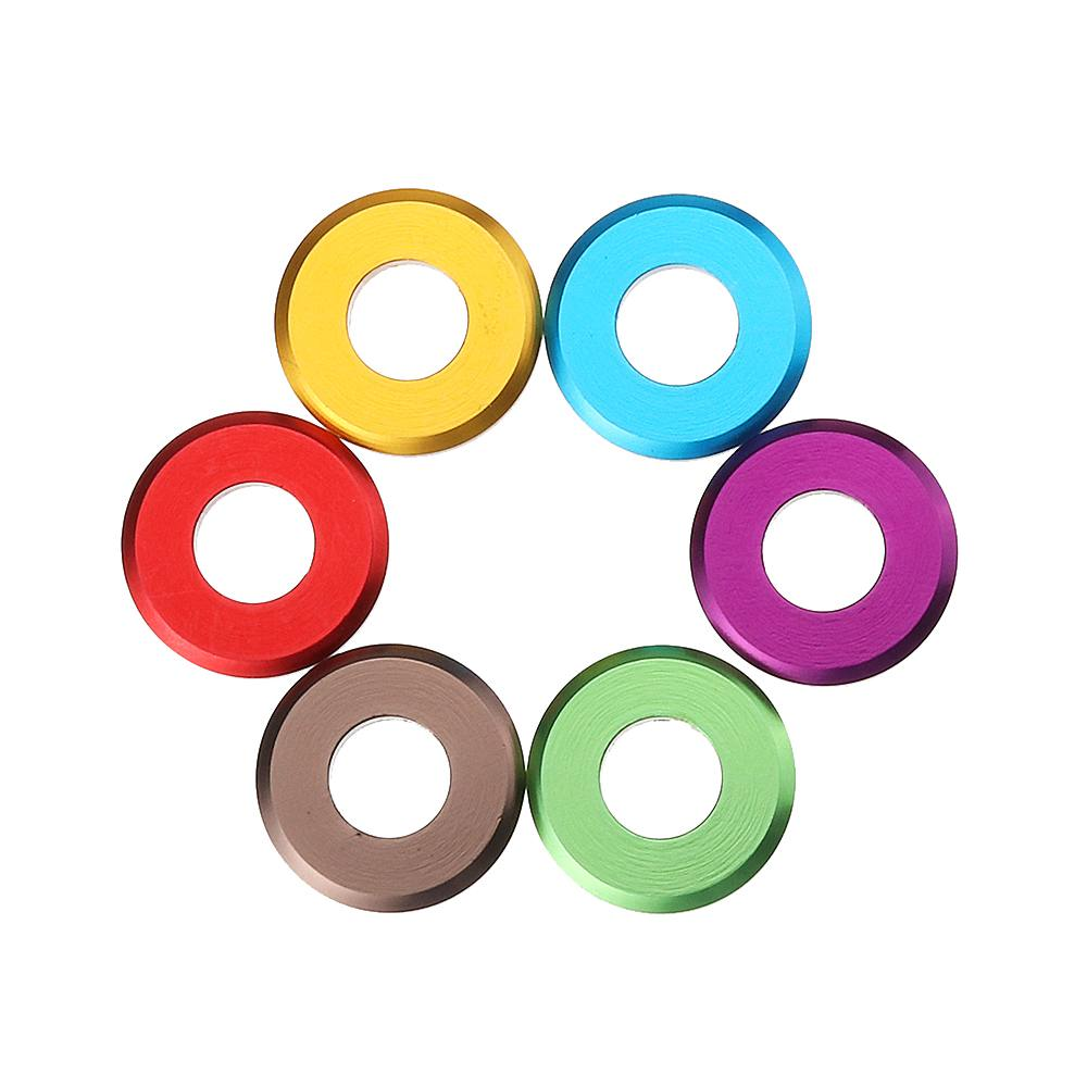 Suleve M5aw1 10 Stks M5 Aluminium Platte Schroef Washer Spacer Pakking Multicolor