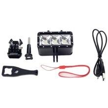 Hot TTKK Waterproof Diving Underwater 3 Led Video Light W/ Battery Suitable For Hero Hd 4 3+ 2 Sj400