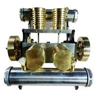 V образный четырехцилиндровый вакуумный всасывающий двигатель модель строительные наборы игрушка для развитие интеллекта