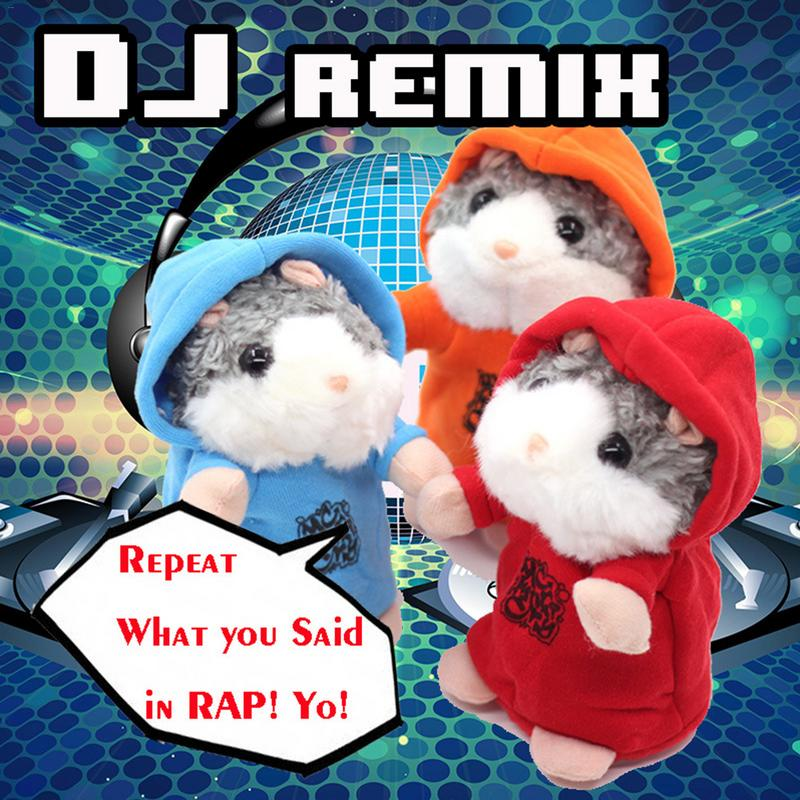 Repeat What You Said In Rap! Cool Electronic Dj Talking Hamster Plush Toy Sound Record Hamster Animal Gifts Toys Kids