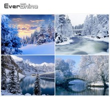 EverShine Diamond Embroidery Sale Painting Full Square Mosaic Picture Of Rhinestones Winter Landscape Set