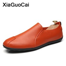 Spring Autumn Men Casual Shoes Leather Male Loafers Gommino Slip-On Cheap Doug Shoes Breathable Comfortable Boat Flat Footwear цена
