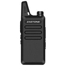 Zazone ZT X6 Mini Walkie Talkie X6 portátil, equipo de comunicación portátil de mano, UHF 400 470 MHz, 2 unidades/lote