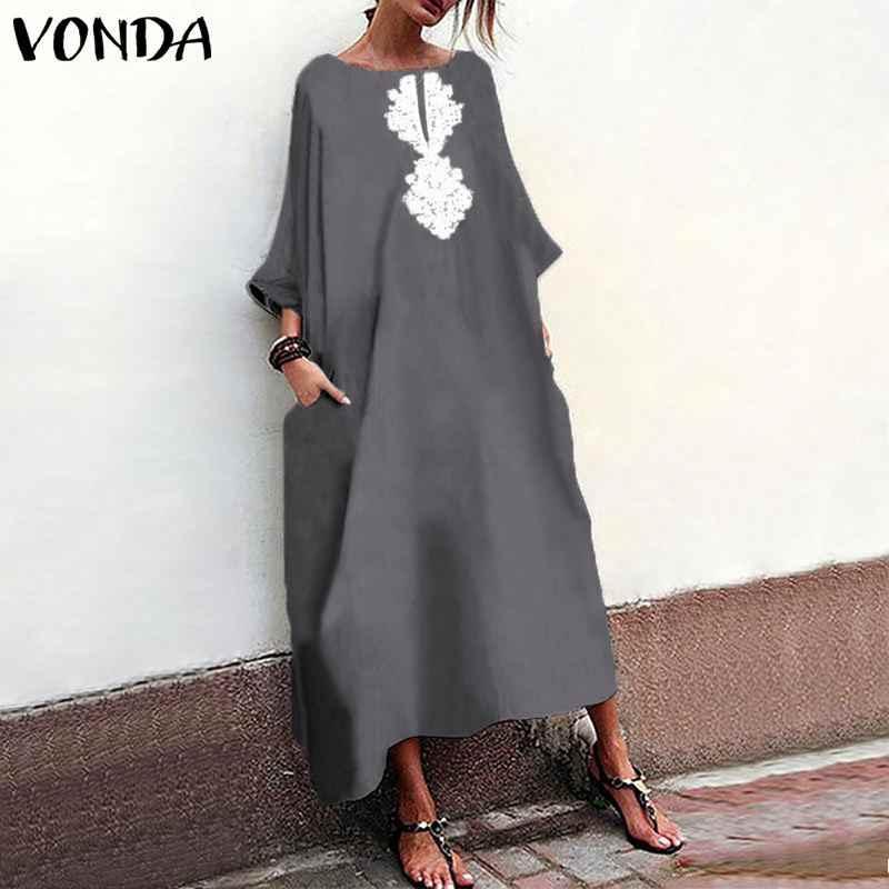 f182efddf3 Detail Feedback Questions about VONDA Women Long Maxi Dress 2019 ...