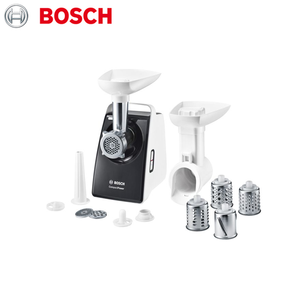 Meat Grinders Bosch MFW3640A home kitchen appliances electric chopper bear portable electric meat grinders 2l 300w 2 gears glass mini blenders 4 blades copper engine meat cutter kitchen appliances