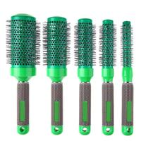 5Pcs/Set Cylindrical Ceramics Curly Hair Comb Salon Professional Anti Static Hair Styling Wave Hair Curls Smooth Tools Combs