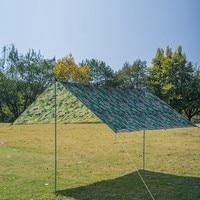 3x3m Waterproof Sun Shelter Outdoor Awnings Tent Tarp Anti UV Beach Tent Shade Camping Hammock Rain Fly Camping Sunshade Canopy