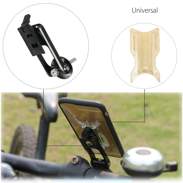 Universal For iPhone 7 7 Plus For Samsung Phone Holder Bike Bicycle Handlebar Mount Cycling Aluminum Alloy Stand Mobile Phone