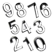 1 шт. современный Серебряный дом отель Адрес табличка номер стикер с цифрами табличка знак Convinient номер ворота