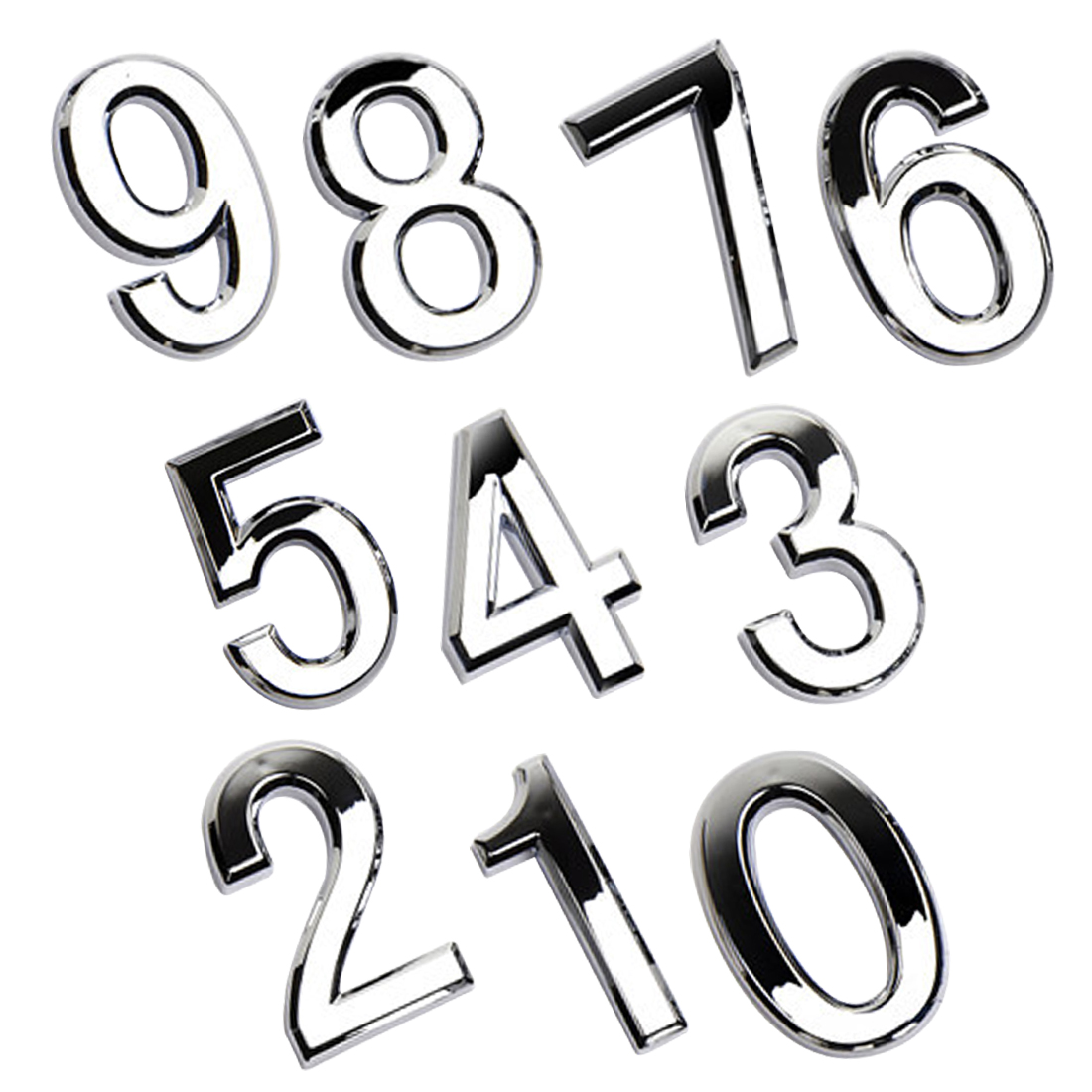 1pcs Modern Silver House Hotel Door Address Plaque Number Digits Sticker Plate  Sign Convinient Room