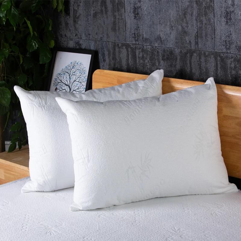 turetrip bamboo waterproof pillow protector bedbug proof zippered pillow cover for bed pillow standard queen king pillowcase