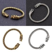 Dragon Head Viking Bracelets Men Indian Jewelry Bangle Accessories Women Wristband Cuff Bracelet Jewelry Vintage Retro Classic цена в Москве и Питере