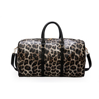 HEWOLF Leopard print Waterproof Women Sport Bag Men Gym Bag Fitness Travel Handbag Outdoor Sports Bag Male