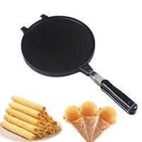 Waffles Cone Baking Pan Egg Roll Crispy Omelet Machine Bakeware Maker Tool