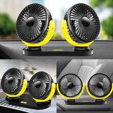 Double-Head-Fan Air-Circulator Cooling Universal USB Car Truck Summer Gray Black Yellow