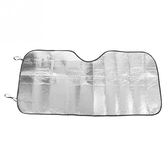 Qiilu Universal Large Silver Car Windscreen Sun Shade Heat Reflective Visor