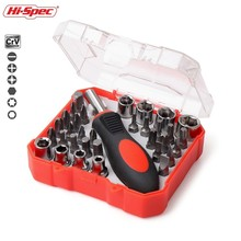 Hi-Spec 34pc Screwdriver Set 1/4 inch Socket Set  Screwdriver Bit Set Torque Spanner Socket Wrench Repair Hand Tools Kit BI008