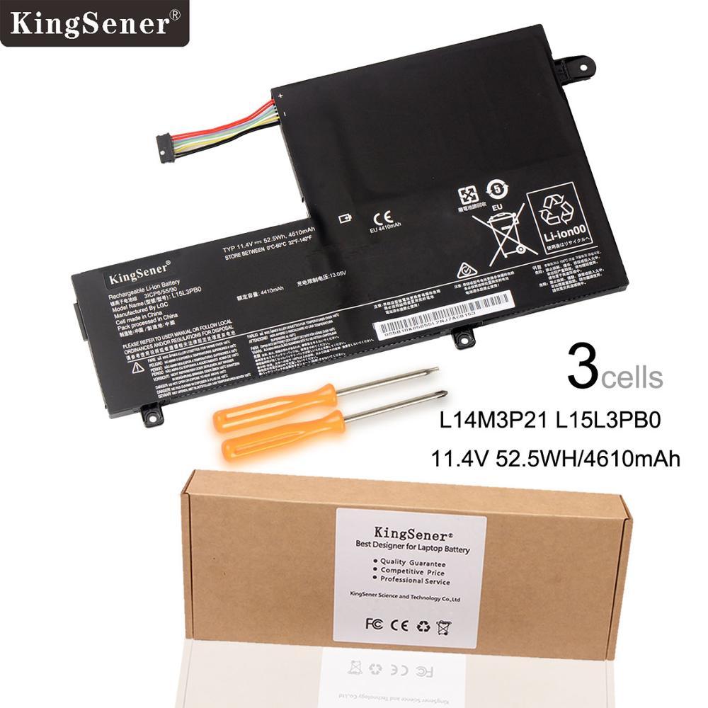KingSener New L14M3P21 L15L3PB0 Laptop Battery For Lenovo Flex 3 1470 1570 Flex 4 1470 Yoga 500 500 15 ISK Edge 2 1580 L14L3P21