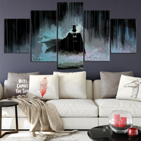 Batman Canvas Posters Home Decor Wall Art Framework 5 Pieces Comics Sunset Paintings For Living Room HD Prints Modern Pictures