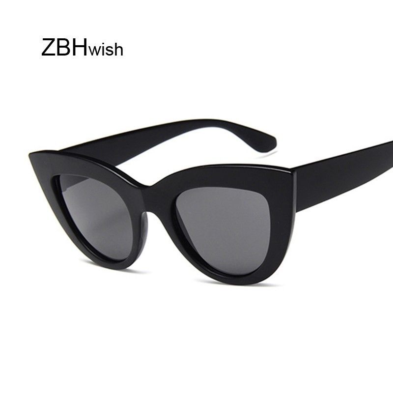 2019 Fashion Cute Sexy Retro Cat Eye Sunglasses Women Vintage Brand Designer Cateye Oval Sun Glasses For Female Ladies UV400