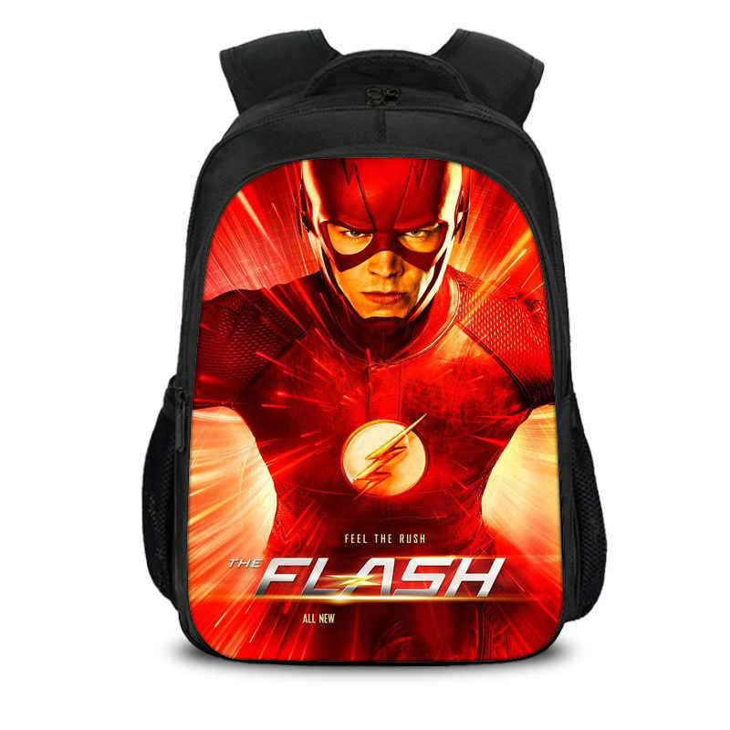 fe3f4e1fc80f Curel Fancl Hero The Flash Backpack Children School Bags Daily Backpack  Teens Boys Girls Justice League School Bags Gift Bookbag