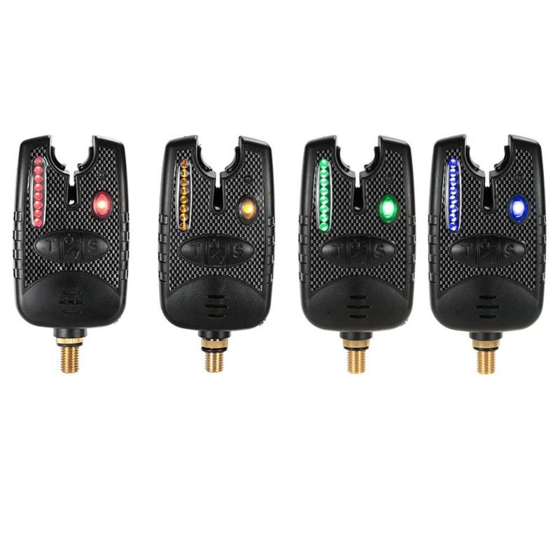 Multifunction Fishing Alarm 8 LED Adjustable Tone Volume Sound Fishing Alerts Bite Alarm For Fishing Rod Fishing Tackle