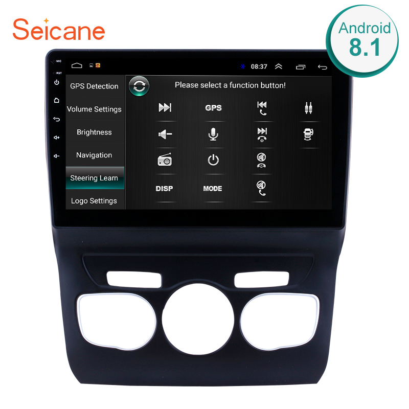 "Seicane 10.1"" 2din Android 8.1 GPS Navi Car Radio For 2013-2016 Citroen C4 Head Unit Player Left hand driver Support Rear Camera"