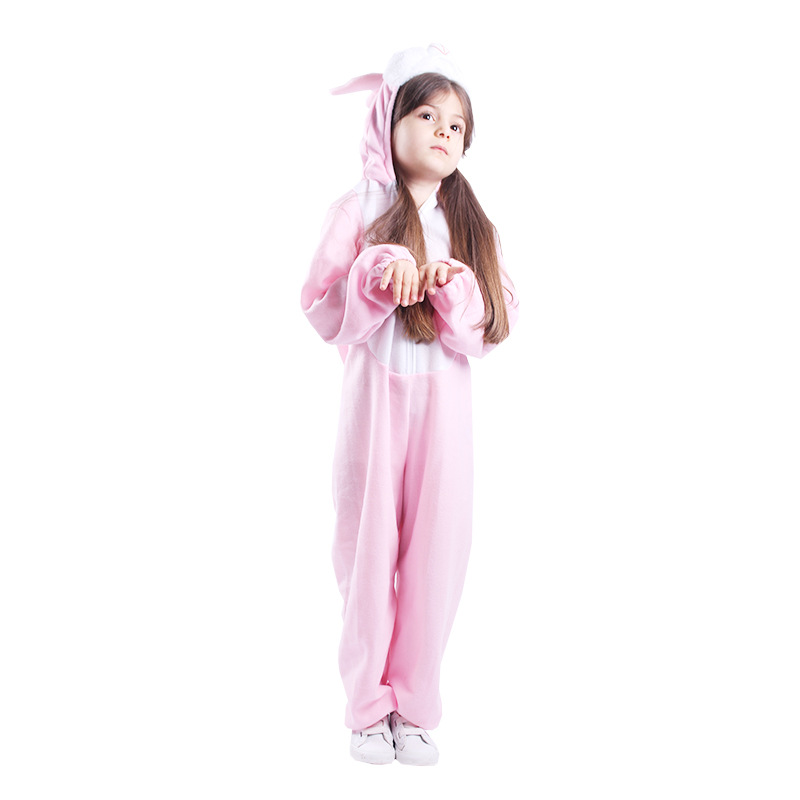 Kids Animal Cosplay Costume For Children Rabbit Toddler Baby Girls Boys Bunny Costume Halloween Birthday Party Jumpsuit Clothes
