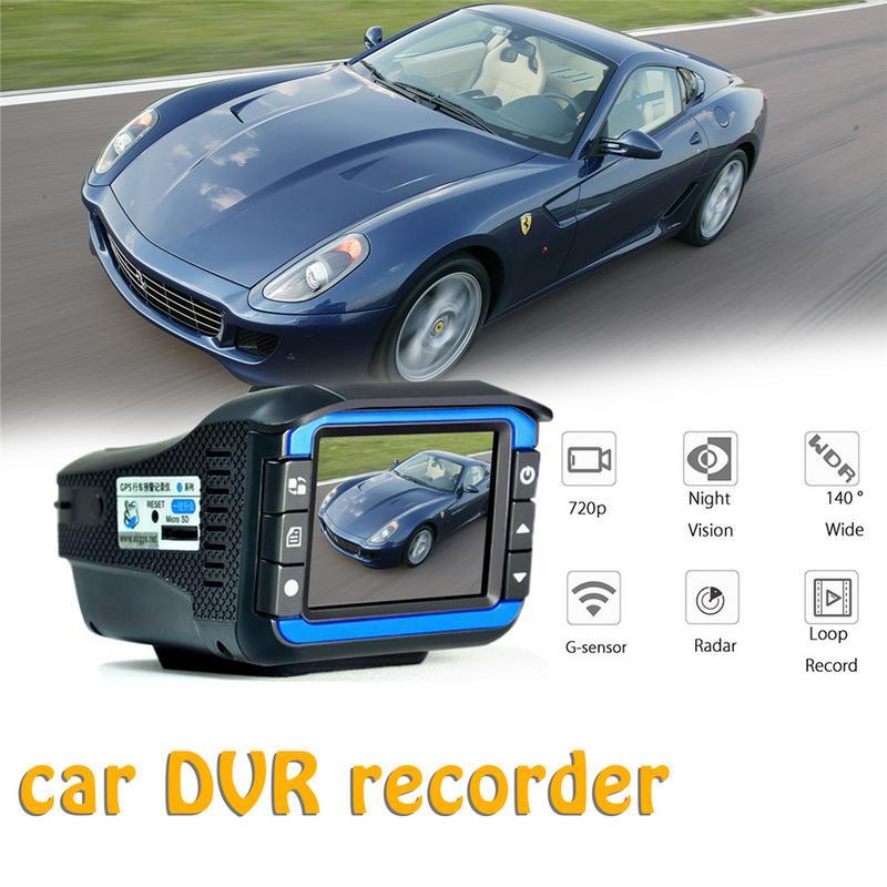 2 en 1 720 P détecteurs de Radar de voiture DVR enregistreur détecteur de vitesse caméra vocale russe Dash Cam mesure de vitesse de débit fixe