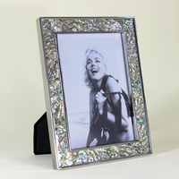 Very Luxury Handmade Seashell & Metal Silver Plated Photo Frame Picture Frames Yspf 010