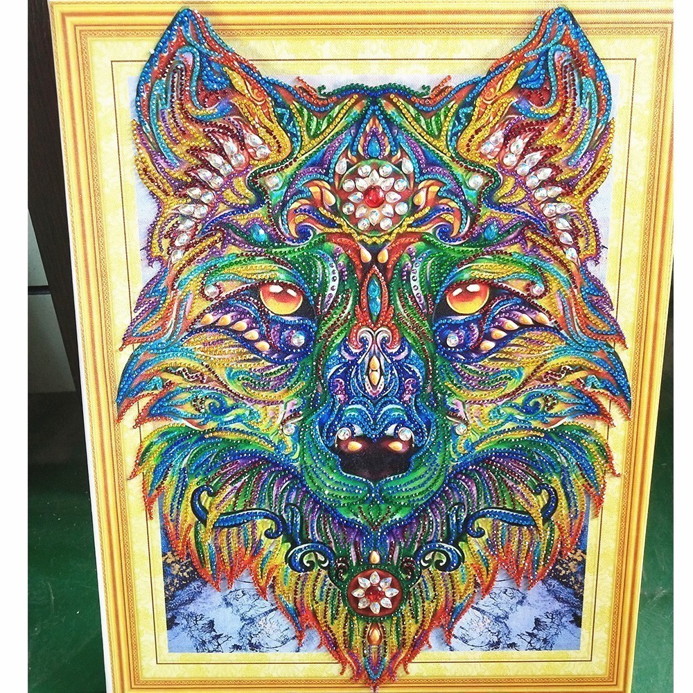 Byzantine Huacan Special Shape Wolf Diamond Painting Diamond Embroidery Animal Mosaic Pattern Picture Rhinestones Needle Arts 40x50cm Aliexpress Huacan Special Shape Wolf Diamond Painting Diamond Embroidery Animal