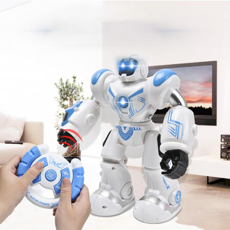 Early Childhood Education Intelligent Electric Remote Control Robot LED Light Singing Dancing Full Presentation RC Robot Toy-in RC Robot from Toys & Hobbies