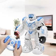 Early Childhood Education Intelligent Electric Remote Control Robot LED Light Singing Dancing Full Presentation RC Robot Toy(China)