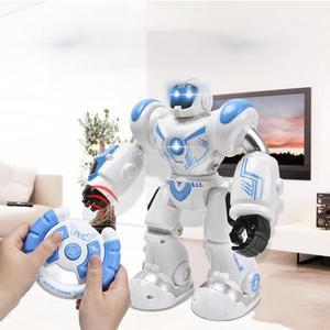 Image 1 - Wczesne dzieciństwo edukacja inteligentny elektryczny pilot Robot LED Light Singing taniec pełna prezentacja zabawkowy zdalnie sterowany Robot