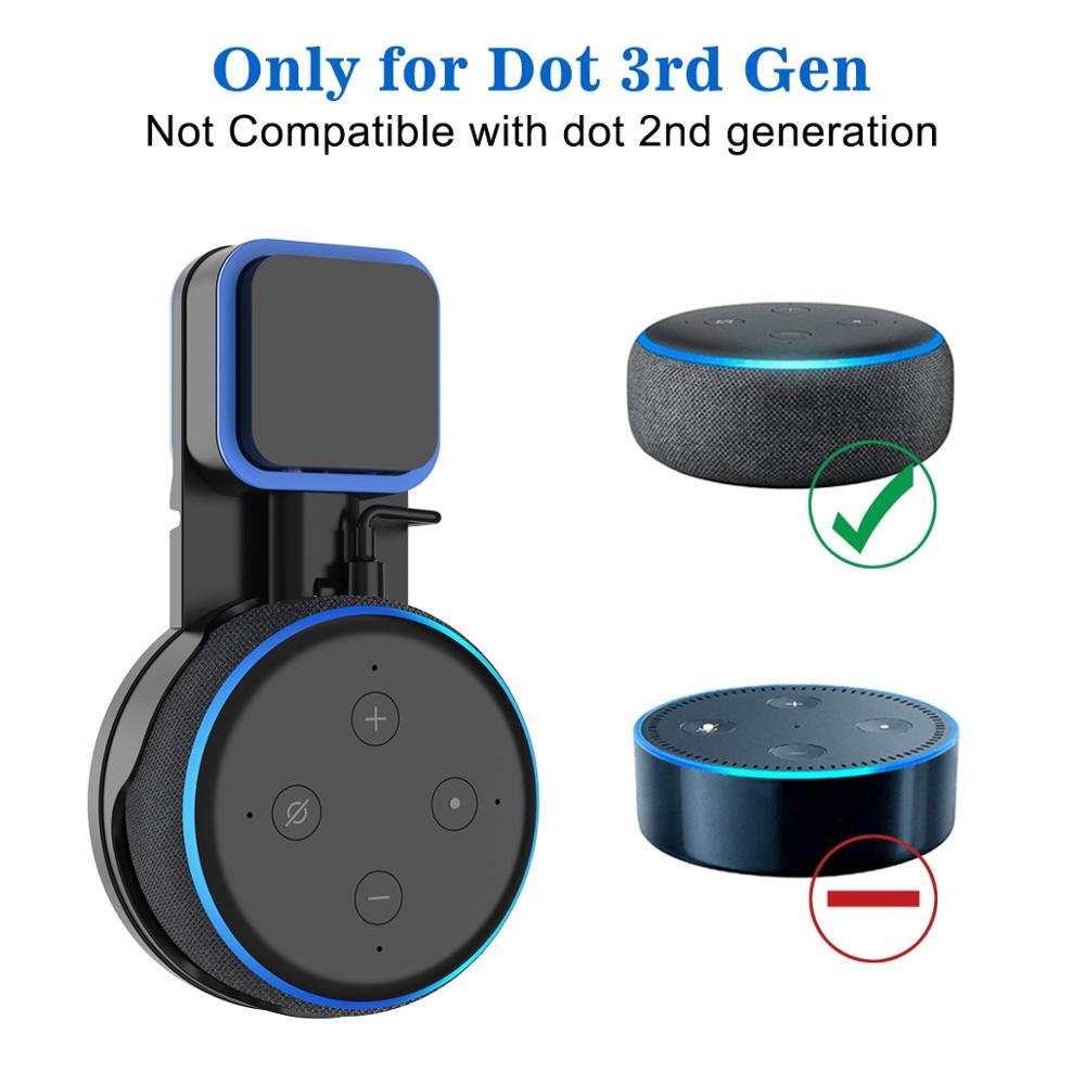 Alexa Echo Dot 3rd Generation Outlet Wall Mount 3