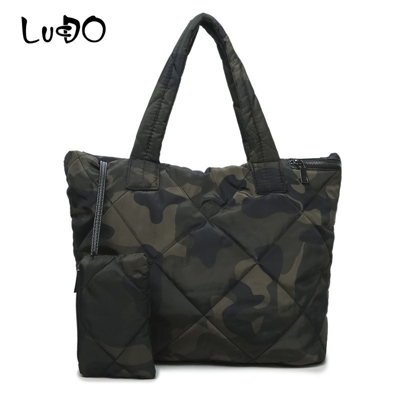 LUCDO 3 Sets High Quality Waterproof Women Handbag Soft Winter Bag Women Shoulder Bags Tote Purse Oxford Designer Handbags Sac