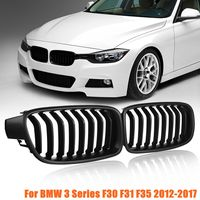 for BMW F30 F31 F35 3 Series 2012 2013 2014 2015 2016 2017 1Pair Front Kidney Grill Grilles Matte Black
