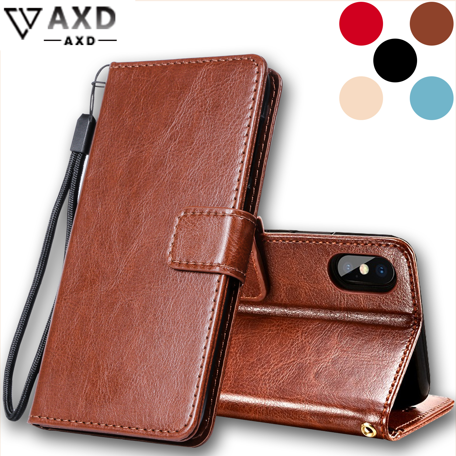 <font><b>Flip</b></font> phone leather <font><b>case</b></font> for <font><b>OnePlus</b></font> 1 2 3 <font><b>3T</b></font> 5 5T 6 6T X wallet style protective coque Stand cover capa for OnePlus3 OnePlus5 image