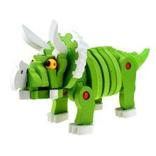 цены на Assembly 3D Triceratops Shape Puzzle Toy for Kids Puzzle Dinosaur Assembled Educational Toys  в интернет-магазинах