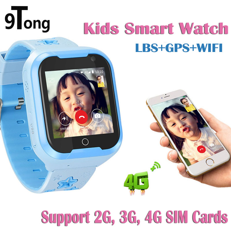 9Tong Newest 4G Smart Watch Kids GPS Touch Screen SOS Children Smartwatch Dial Call Kid Smart Watches Suport 4g Sim Card pk q90 мтс smart sprint 4g sim lock white
