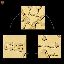 Moneda de colección de diseño clásico del juego CS GO Counter Strike, edición chapados en oro